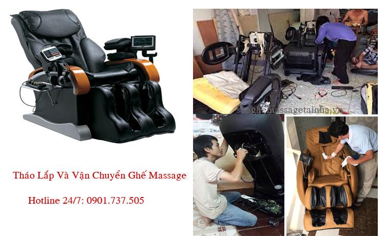 Tháo lắp và di chuyển ghế massage