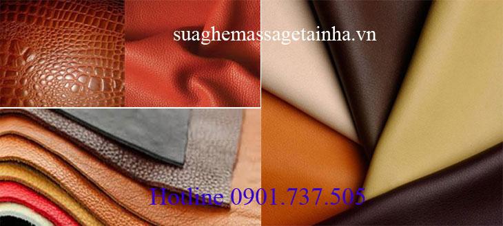 đa dạng chủng loại màu sắc các loại da ghế massage